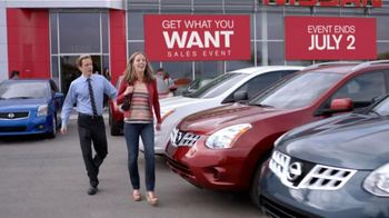 Nissan Get What You Want Sales Event TV Spot, '2012 Altima and Rogue'
