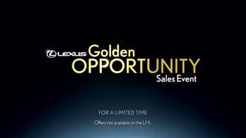 Lexus Golden Opportunity Sales Event TV Spot, 'Performance Line' - Thumbnail 8