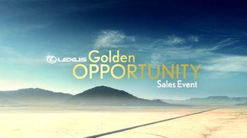 Lexus TV Spot, 'Performance Line Golden Opportunity' - Thumbnail 1