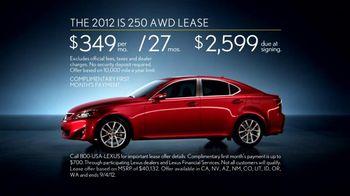 Lexus TV Spot, 'Performance Line Golden Opportunity' - Thumbnail 7