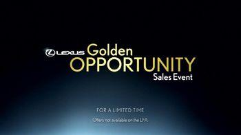 Lexus TV Spot, 'Performance Line Golden Opportunity' - Thumbnail 6