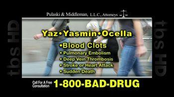 Pulaski & Middleman, L.L.C, Attorneys TV Spot For Yaz, Yazmin and Ocella