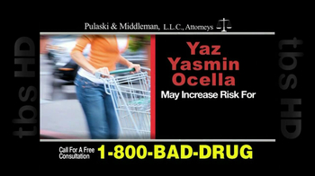 Pulaski & Middleman, L.L.C, Attorneys TV Spot For Yaz, Yazmin and Ocella - Thumbnail 3