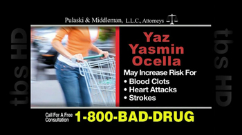 Pulaski & Middleman, L.L.C, Attorneys TV Spot For Yaz, Yazmin and Ocella - Thumbnail 4