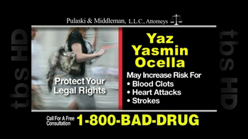 Pulaski & Middleman, L.L.C, Attorneys TV Spot For Yaz, Yazmin and Ocella - Thumbnail 6