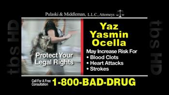 Pulaski & Middleman, L.L.C, Attorneys TV Spot For Yaz, Yazmin and Ocella - Thumbnail 7