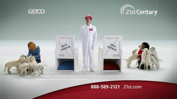 21st Century Insurance TV Spot, 'Puppy Comparison' - 997 commercial airings