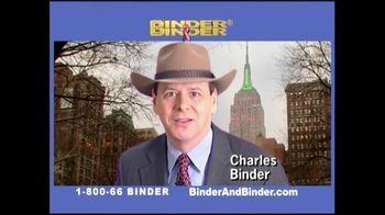 Binder and Binder TV Spot For Binder and Binder Featuring Charles Binder