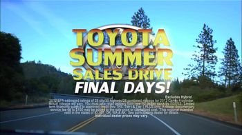 Toyota Summer Sales Drive TV Spot, '2012 Camry and Camry LE' - Thumbnail 3