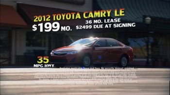 Toyota Summer Sales Drive TV Spot, '2012 Camry and Camry LE' - Thumbnail 6