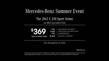 2012 Mercedes-Benz C 250 Sport TV Spot, 'Summer Event' - Thumbnail 7
