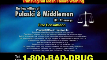 Pulaski & Middleman, L.L.C, Attorneys TV Spot For  Transvaginal Mesh Compli - Thumbnail 6