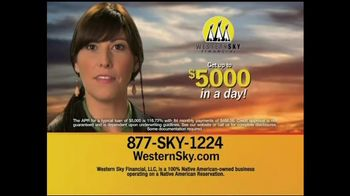 Western Sky Financial  TV Spot, '$5,000 By Tomorrow'
