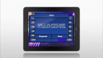Sony Pictures TV Spot For Jeopardy Tablet App