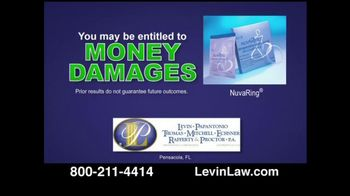 Levin Law TV Spot For Nuvaring Lawsuits