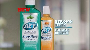 ACT Fluoride TV Spot For ACT Sensitive Mouth Wash