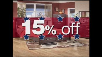 Ashley Furniture Homestore TV Spot for 15% or More During Memorial Day Sale - Thumbnail 4