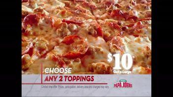 Papa John's TV Spot for Large 2 Topping Pizza and Papa Rewards - Thumbnail 2