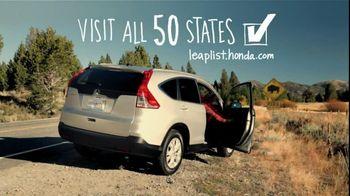 Honda CRV TV Spot, 'All 50 States' - Thumbnail 5