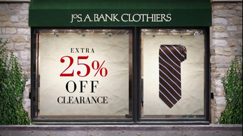 JoS. A. Bank TV Spot For 25% Off Clearance Sale - 2 commercial airings