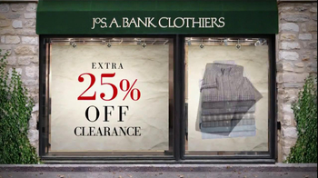 JoS. A. Bank TV Spot For 25% Off Clearance Sale - Thumbnail 4