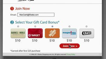 Ebates TV Spot For $10 Gift Card For New Members - Thumbnail 3