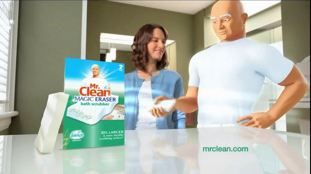 Mr Clean Magic Eraser Bath Scrubber Tv Commercial Clean Up The