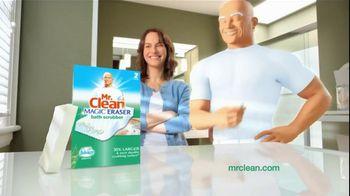 Mr. Clean Magic Eraser Bath Scrubber TV Spot, 'Clean Up the Universe' - Thumbnail 10