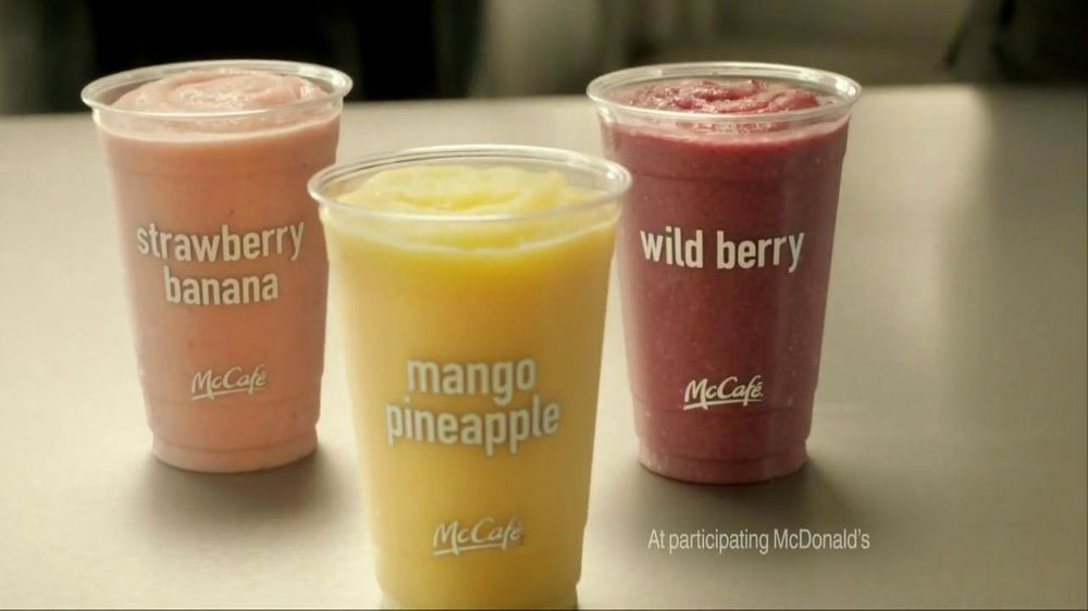 how to make strawberry banana smoothie like mcdonalds