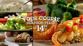 Red Lobster Four Course Seafood Feast TV Spot, 'Seven Entrees'