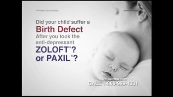 Weitz and Luxenberg TV Spot For Birth Defects Caused By Zoloft or Paxil - Thumbnail 3