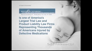 Weitz and Luxenberg TV Spot For Birth Defects Caused By Zoloft or Paxil - Thumbnail 6