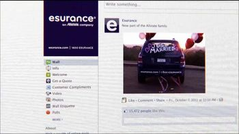 Esurance TV Spot, 'Relationship Status with Allstate' - 65 commercial airings
