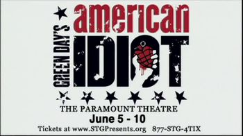 Green Day's American Idiot TV Spot for American Idiot the Musical - Thumbnail 4
