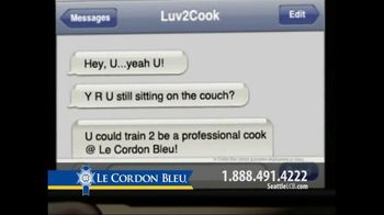 Le Cordon Bleu TV Spot For Text Message To Cook - Thumbnail 2