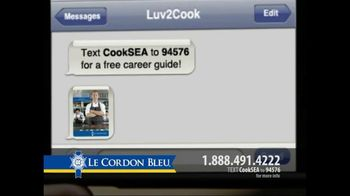 Le Cordon Bleu TV Spot For Text Message To Cook - Thumbnail 6