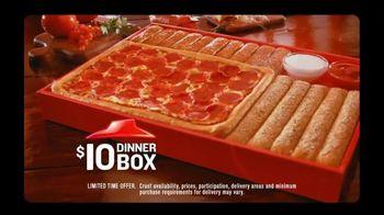 Pizza Hut TV Spot For $10 Dinner Box