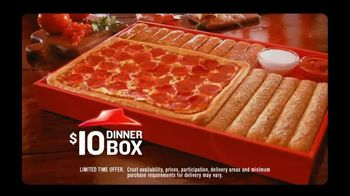 Pizza Hut TV Spot For $10 Dinner Box