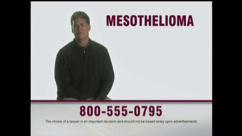 MRHFM Law Firm TV Spot, 'What Is Mesothelioma?' - Thumbnail 1