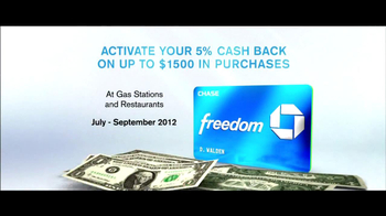 Chase Freeddom TV Spot, 'Cash Back At Gas Stations' - Thumbnail 8