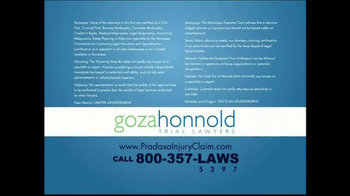 Goza Honnold Trial Lawyers TV Spot For Pradaxa Alert - Thumbnail 7