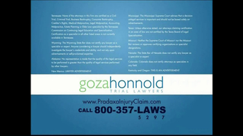 Goza Honnold Trial Lawyers TV Spot For Pradaxa Alert - Thumbnail 9