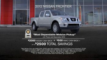 Nissan Get What You Want Sales Event TV Spot, '2012 Frontier and Rogue' - Thumbnail 3