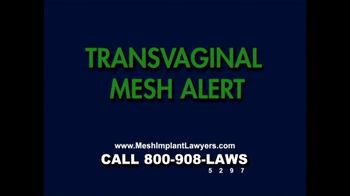 Goza Honnold Trial Lawyers TV Spot For Transvaginal Mesh Alert