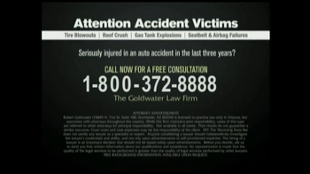 GoldWater Law Firm TV Spot For Car Accident Victims - Thumbnail 10