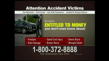 GoldWater Law Firm TV Spot For Car Accident Victims - Thumbnail 4