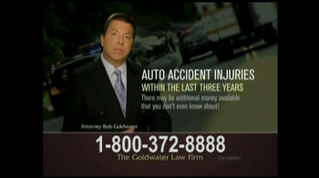 GoldWater Law Firm TV Spot For Car Accident Victims - Thumbnail 5