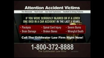 GoldWater Law Firm TV Spot For Car Accident Victims - Thumbnail 9