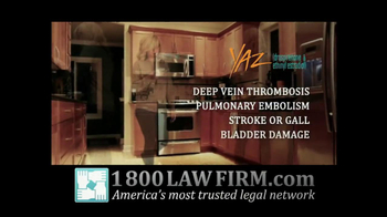 1-800-LAW-FIRM TV Spot For Injured By Yaz - Thumbnail 2