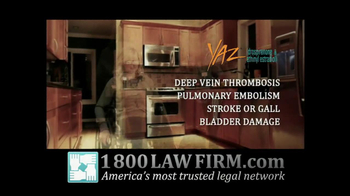 1-800-LAW-FIRM TV Spot For Injured By Yaz - Thumbnail 3